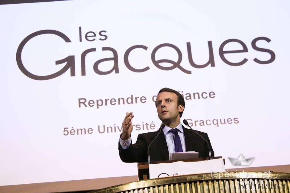 Emmanuel Macron conclut la 5ème Université des Gracques